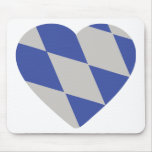 bavarian heart icon mouse pad