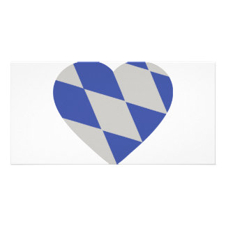 bavarian heart icon personalized photo card