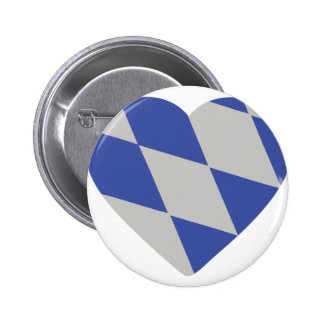 bavarian heart icon pinback button