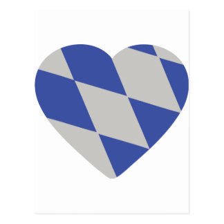 bavarian heart icon post cards