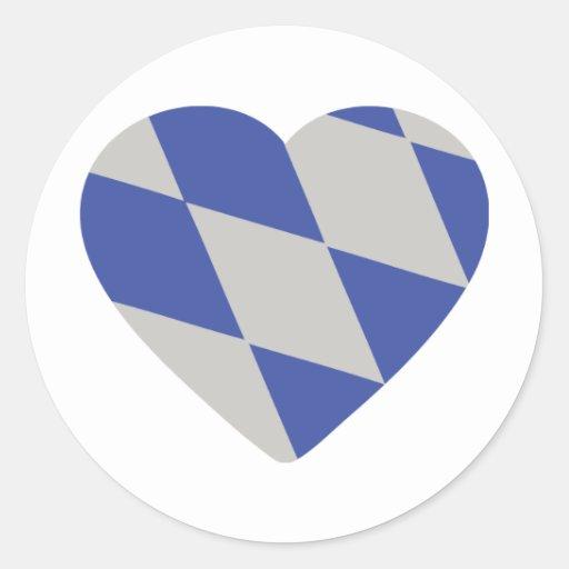 bavarian heart icon stickers