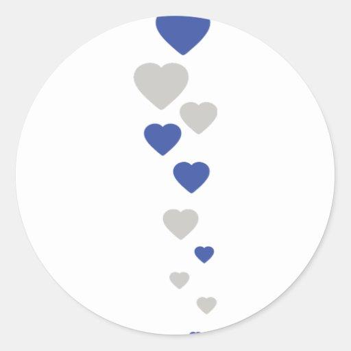 bavarian hearts icon round stickers