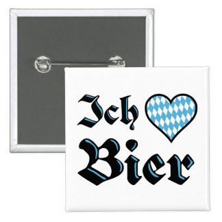 Bavarian I Love Beer Button