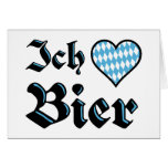 Bavarian I Love Beer Greeting Card