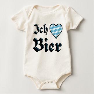 Bavarian I Love Beer Infant Organic Bodysuit
