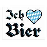 Bavarian I Love Beer Postcard
