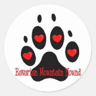 Bavarian Mountain Hound Classic Round Sticker