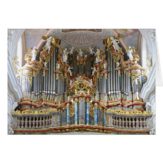 Bavarian pipe organ greeting card