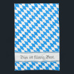 """Bavarian samples hand towel<br><div class=""""desc"""">And nothing multi. Puristisch,  clearly,  knows and blue. And saying: Beer is liquid bread.</div>"""