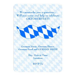 Bavarian Stache Oktoberfest Party Invitations