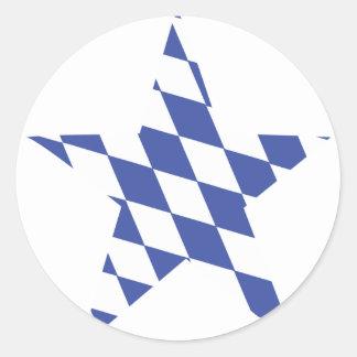 bavarian star icon classic round sticker