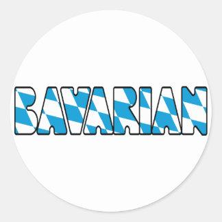 BAVARIAN CLASSIC ROUND STICKER