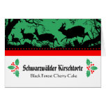 Bavarian Style Buffet Food Description Cards