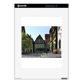 Bavarian Town Street Corner Scene Decals For The iPad