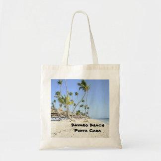 Bavaro Beach on the island of Punta Cana Canvas Bags