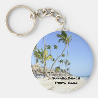 Bavaro Beach on the island of Punta Cana Keychain