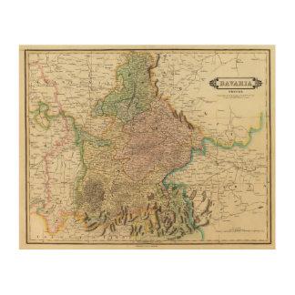 Baviera apropiada impresión en madera