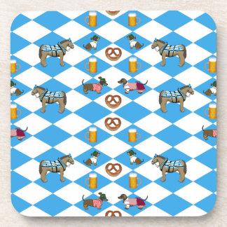 Baviera cerveza Breze perro basset caballo Posavasos De Bebidas