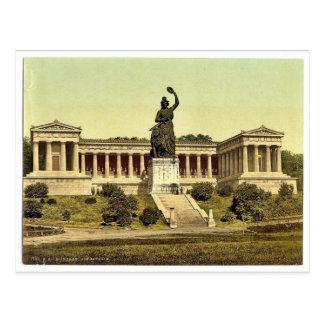 Baviera, con el templo de la fama, Munich, Baviera Tarjeta Postal
