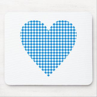 Baviera corazón rombos Bavaria heart diamonds Mousepad