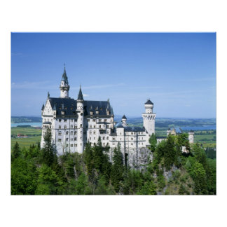 Baviera del castillo de Neuchwanstein Posters