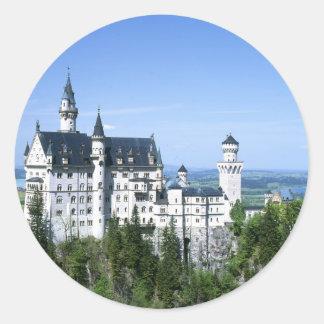 Baviera del castillo de Neuschwanstein Pegatina Redonda