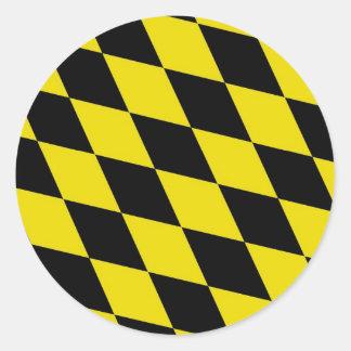 Baviera del país de Alemania de la bandera de la Etiqueta Redonda