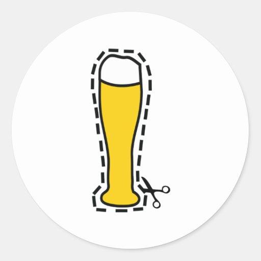 Baviera más octoberfest de la cerveza del trigo pegatina redonda