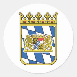 Baviera Pegatina Redonda