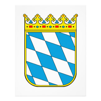 Baviera poco escudo de armas tarjeton