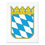 Baviera poco escudo de armas invitación 10,8 x 13,9 cm