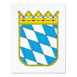 """Baviera poco escudo de armas invitación 4.25"""" x 5.5"""""""