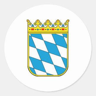 Baviera poco escudo de armas pegatina redonda