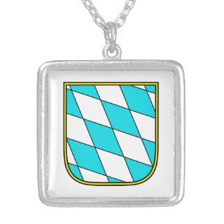 Baviera Wappenzeichen Colgante Cuadrado