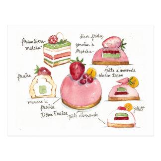 Bavoirois rosado postal