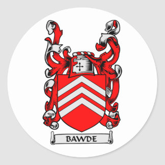 BAWDE Family Crest Classic Round Sticker