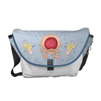 Bawling Baby Boy Courier Bag