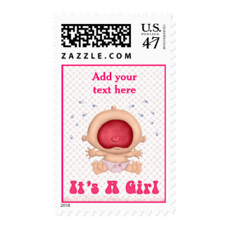Bawling Baby - It's a Girl Postage