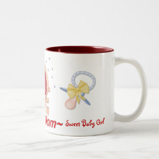 Bawling Baby - New Mom - Girl - Customize Two-Tone Coffee Mug