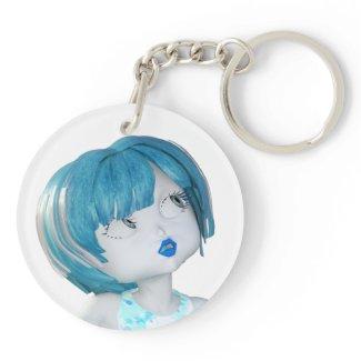 Bawn - Key Ring Double-Sided Round Acrylic Keychain