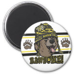 Bawsome Boston Awesome 2 Inch Round Magnet