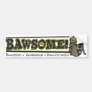 Bawsome Boston Awesome Bumper Sticker