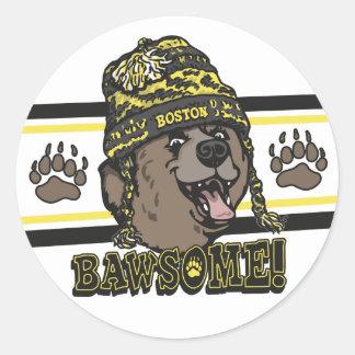 Bawsome Boston Awesome Classic Round Sticker