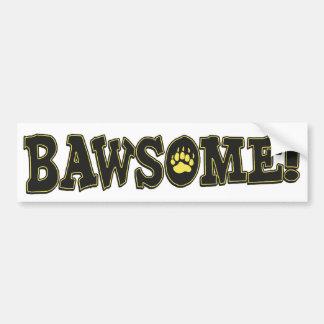 Bawsome Boston impresionante Etiqueta De Parachoque