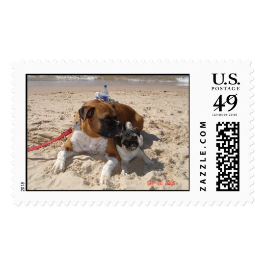 baxter and maya beach postage