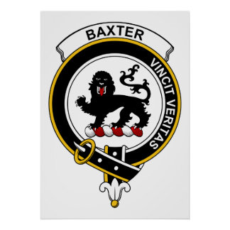 Baxter Clan Badge Poster