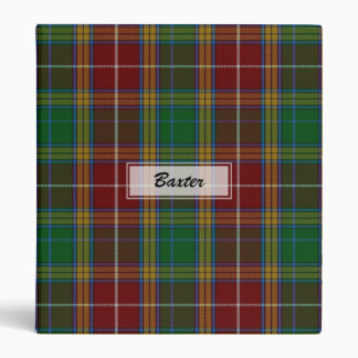 Baxter Clan Tartan Plaid Binder