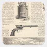 Baxter Steam Engine Company Pegatina Cuadrada