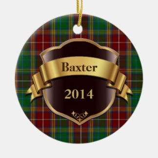 Baxter Tartan Plaid Custom ornament
