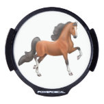 Bay American Saddlebred Horse Car Powerdecal LED Car Decal